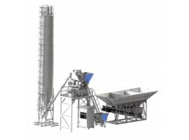 Concrete-mixing plants 25-150 m.cub/ hr