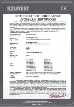 Certificate of compliance Basalt