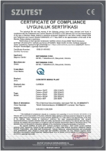 Certificate of compliance Carbon Betonmash