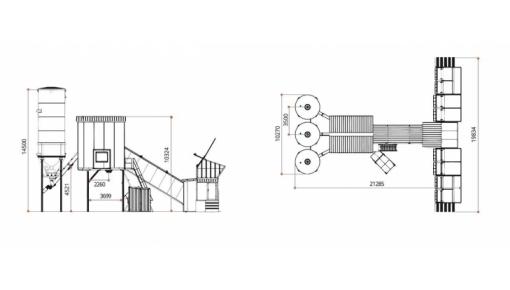 Rapidly installed concrete plant BASALT 80 m.cub/hr, conveyor