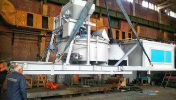 бетонозмішувальна установка з роторним бетонозмішувачем