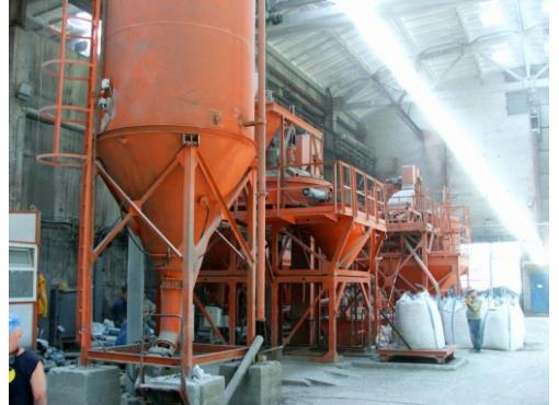 Установка з виробництва сухих будівельних сумішей СБ-240-V